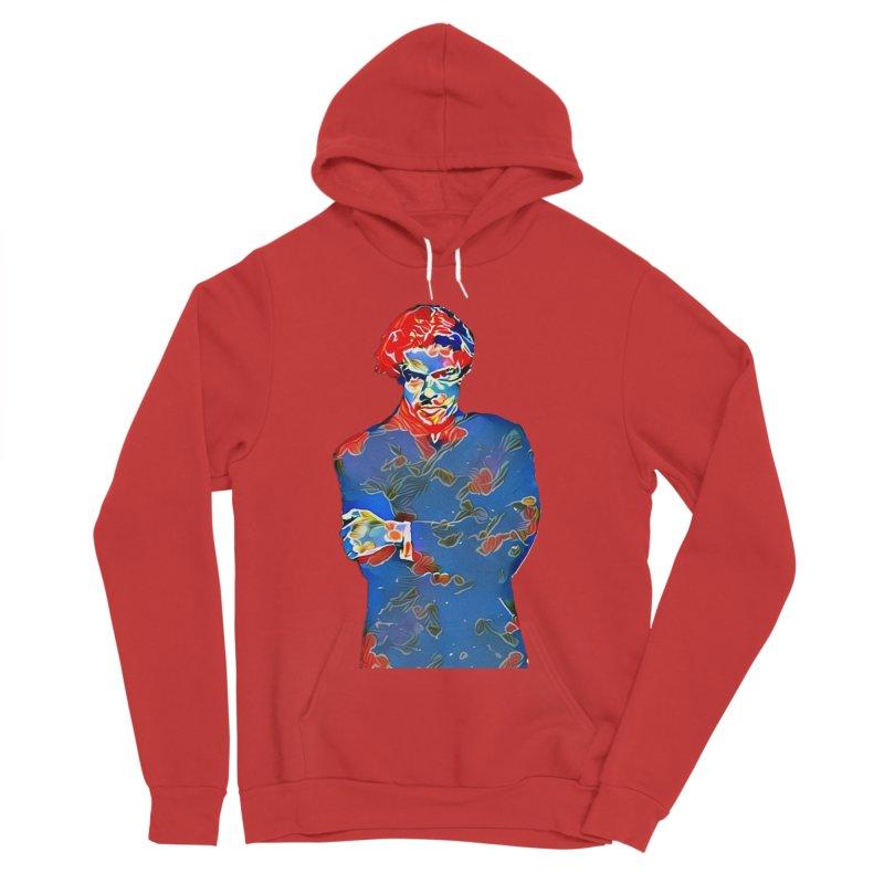 Portrait of a Young Immigrant Men's Sponge Fleece Pullover Hoody by zuzugraphics's Artist Shop