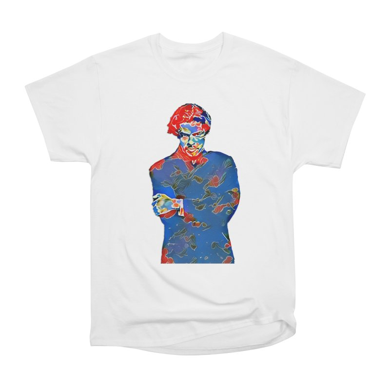 Portrait of a Young Immigrant Men's Heavyweight T-Shirt by zuzugraphics's Artist Shop