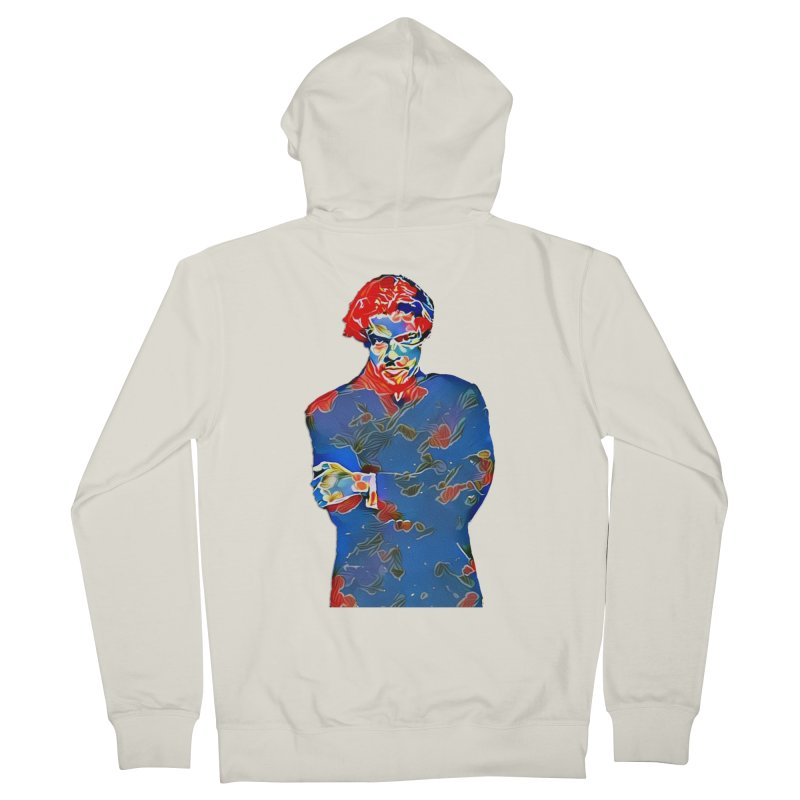Portrait of a Young Immigrant Women's French Terry Zip-Up Hoody by zuzugraphics's Artist Shop