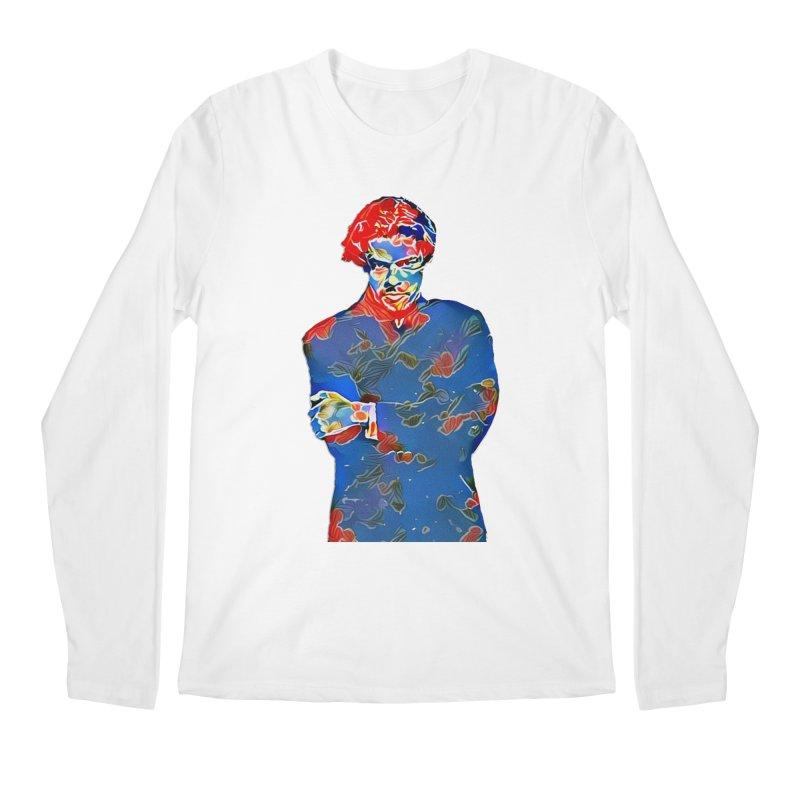 Portrait of a Young Immigrant Men's Regular Longsleeve T-Shirt by zuzugraphics's Artist Shop