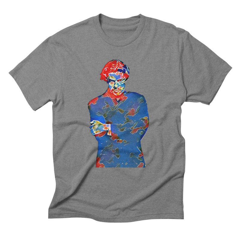 Portrait of a Young Immigrant Men's Triblend T-Shirt by zuzugraphics's Artist Shop