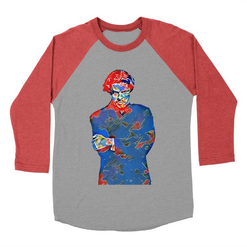 Portrait of a Young Immigrant Men's Baseball Triblend Longsleeve T-Shirt by zuzugraphics's Artist Shop