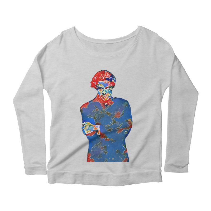 Portrait of a Young Immigrant Women's Scoop Neck Longsleeve T-Shirt by zuzugraphics's Artist Shop