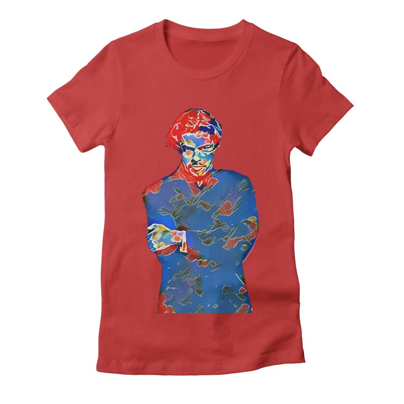 Portrait of a Young Immigrant Women's Fitted T-Shirt by zuzugraphics's Artist Shop