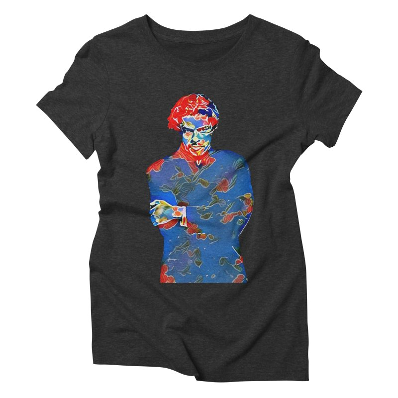 Portrait of a Young Immigrant Women's Triblend T-Shirt by zuzugraphics's Artist Shop