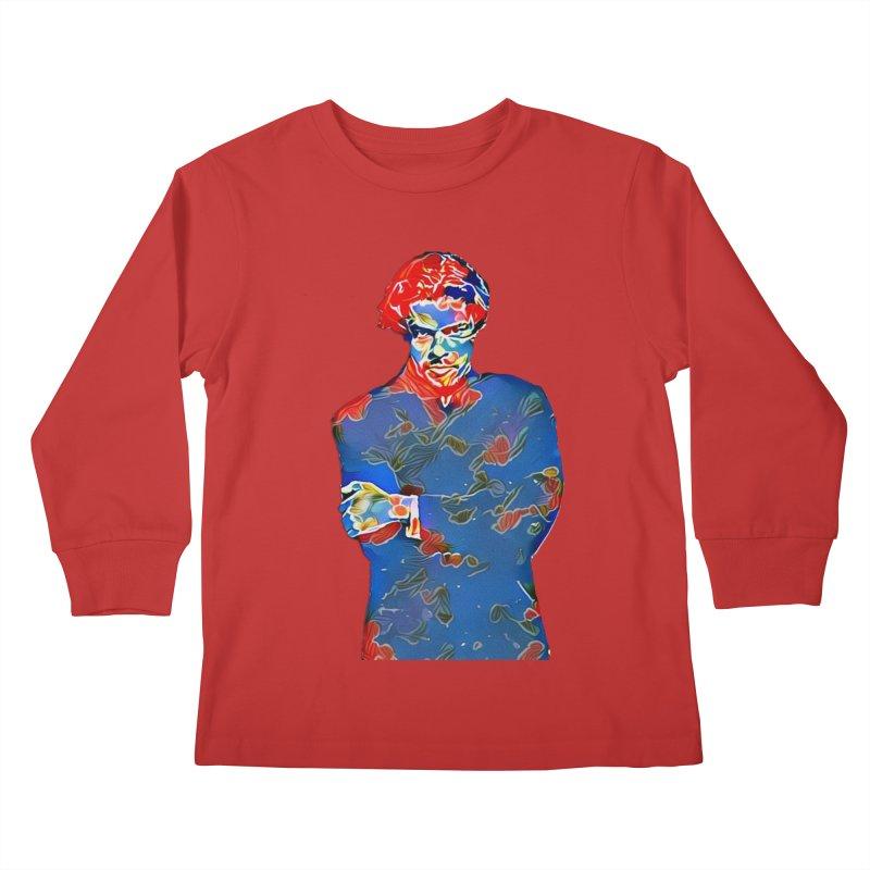 Portrait of a Young Immigrant Kids Longsleeve T-Shirt by zuzugraphics's Artist Shop