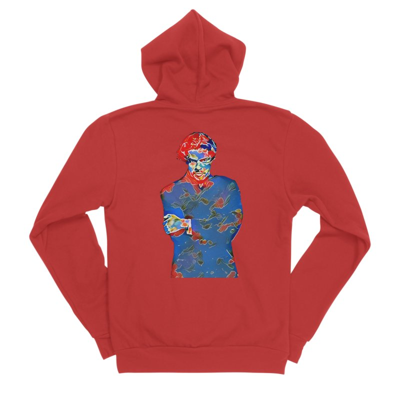 Portrait of a Young Immigrant Men's Zip-Up Hoody by zuzugraphics's Artist Shop