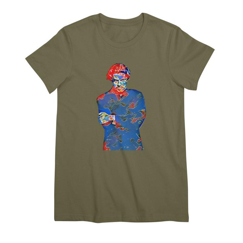 Portrait of a Young Immigrant Women's Premium T-Shirt by zuzugraphics's Artist Shop