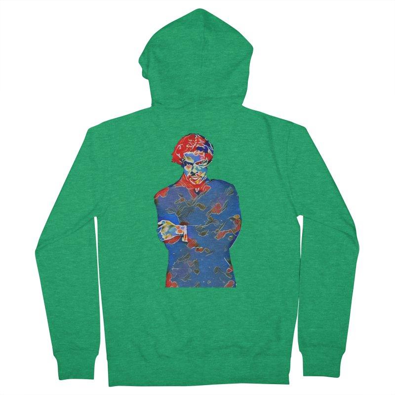 Portrait of a Young Immigrant Men's Zip-Up Hoody by zuzugraphics's Artist Shop
