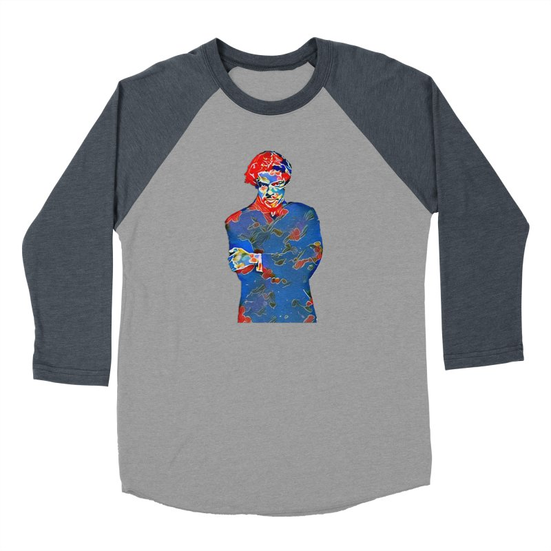 Portrait of a Young Immigrant Women's Baseball Triblend Longsleeve T-Shirt by zuzugraphics's Artist Shop