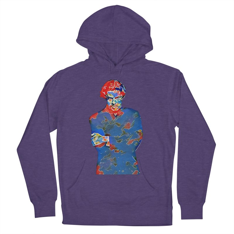Portrait of a Young Immigrant Women's French Terry Pullover Hoody by zuzugraphics's Artist Shop