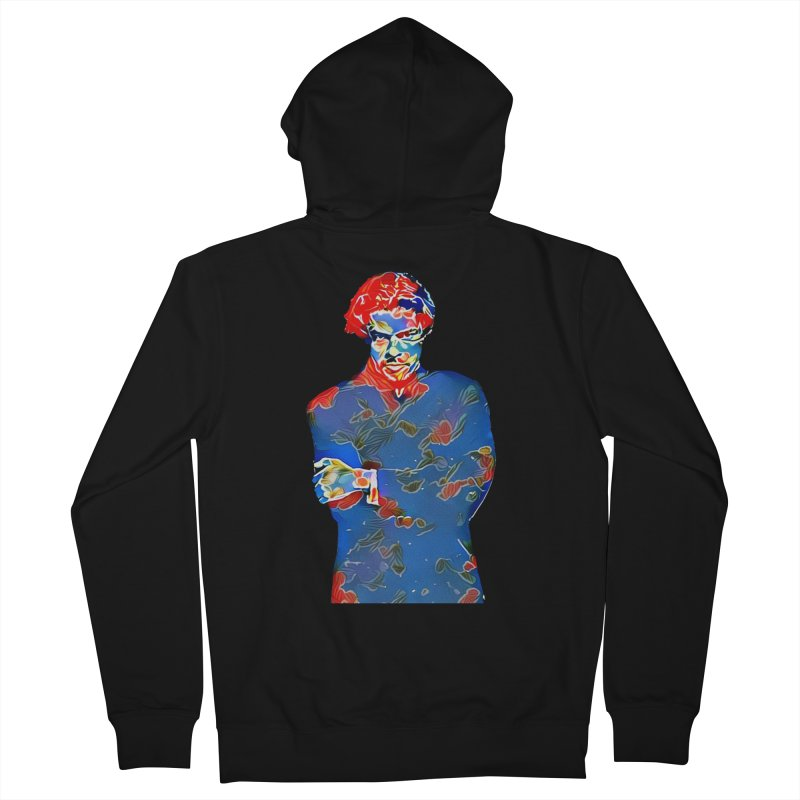 Portrait of a Young Immigrant Men's French Terry Zip-Up Hoody by zuzugraphics's Artist Shop