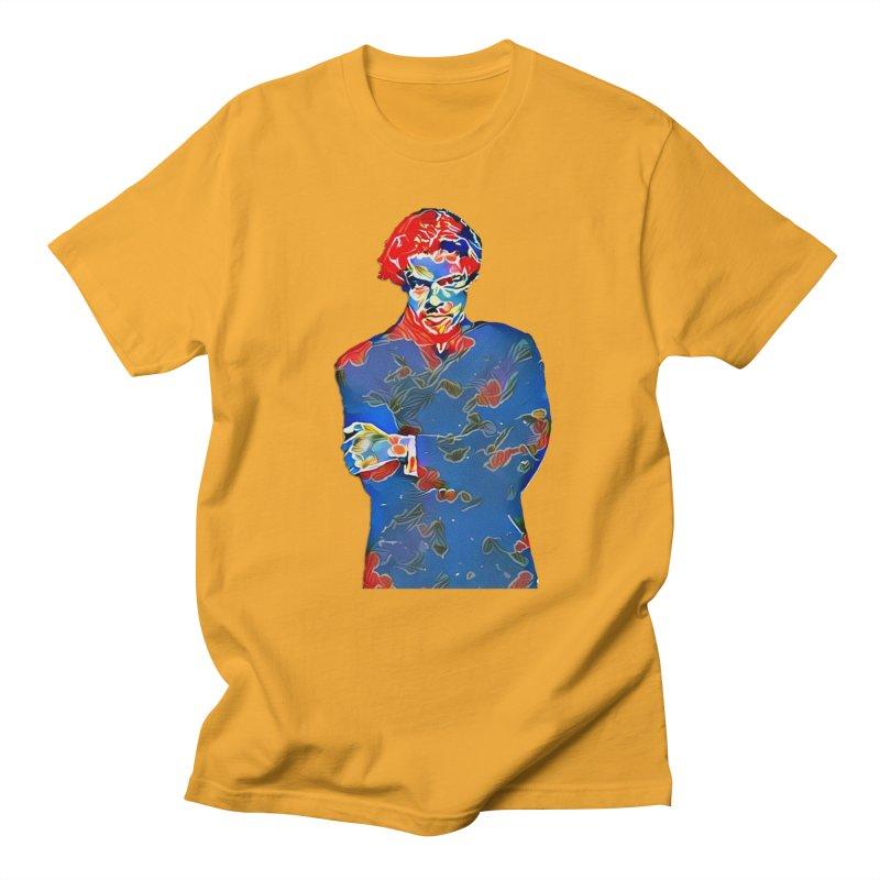 Portrait of a Young Immigrant Men's Regular T-Shirt by zuzugraphics's Artist Shop