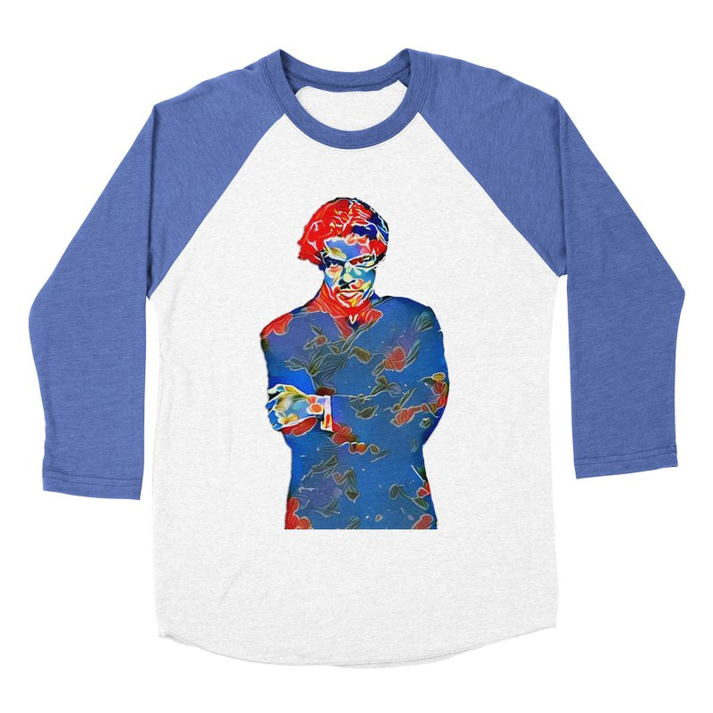 Portrait of a Young Immigrant Women's Baseball Triblend Longsleeve T-Shirt by zuzugraphics's Artist Shop