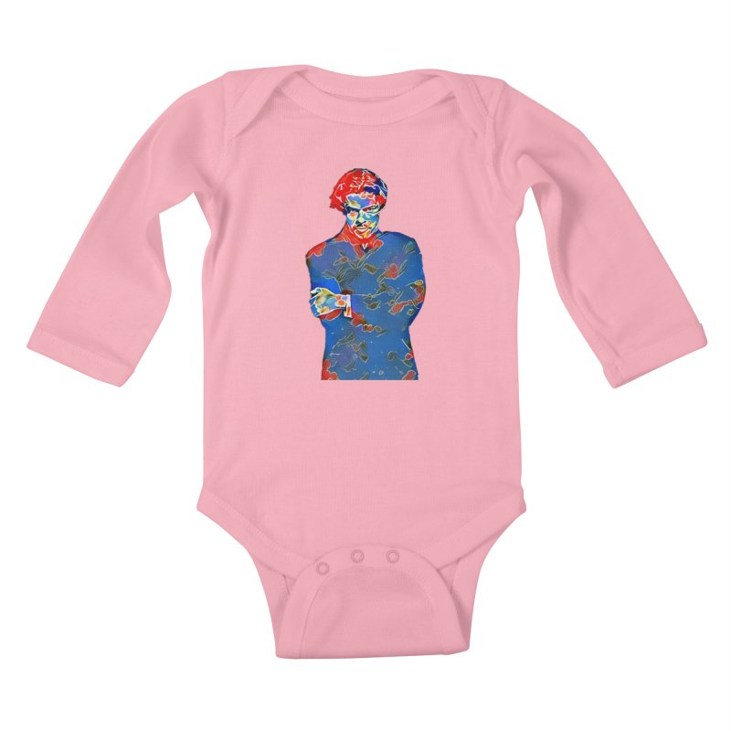 Portrait of a Young Immigrant Kids Baby Longsleeve Bodysuit by zuzugraphics's Artist Shop