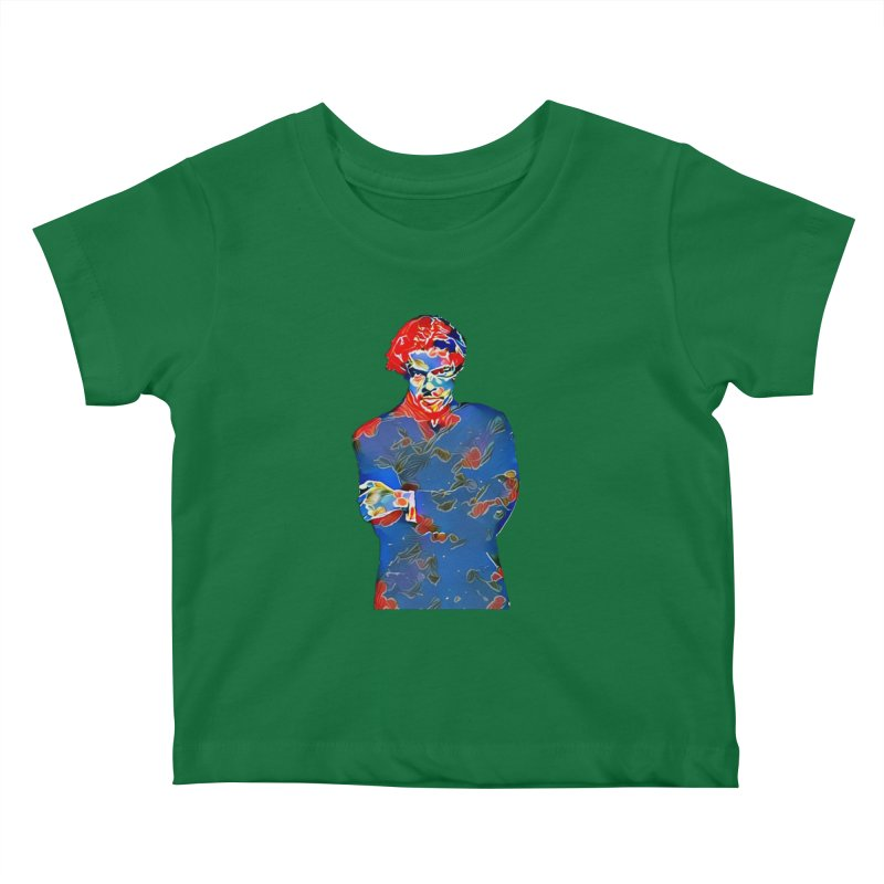 Portrait of a Young Immigrant Kids Baby T-Shirt by zuzugraphics's Artist Shop