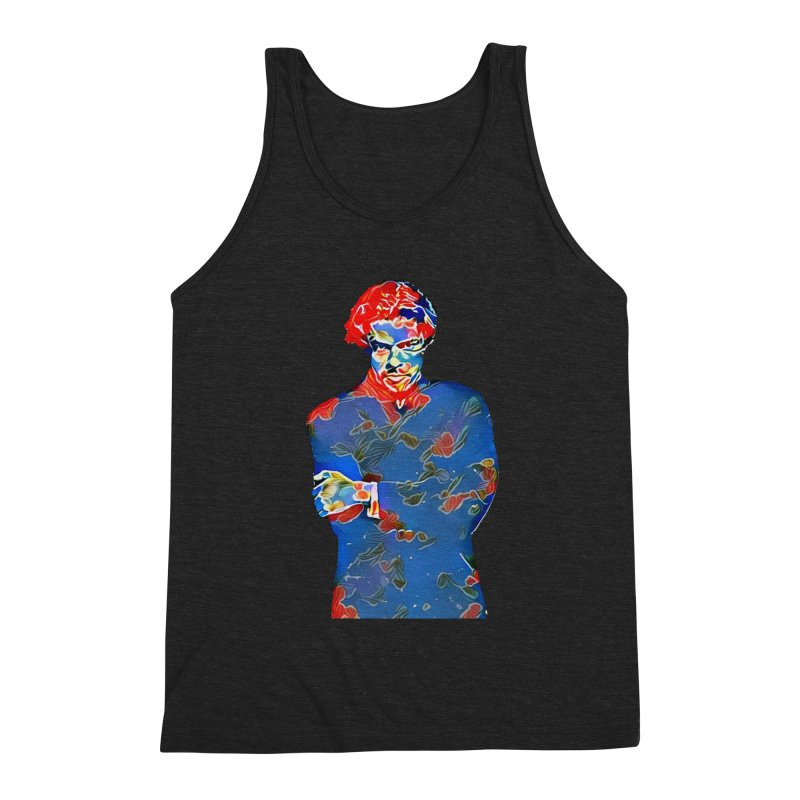 Portrait of a Young Immigrant Men's Triblend Tank by zuzugraphics's Artist Shop