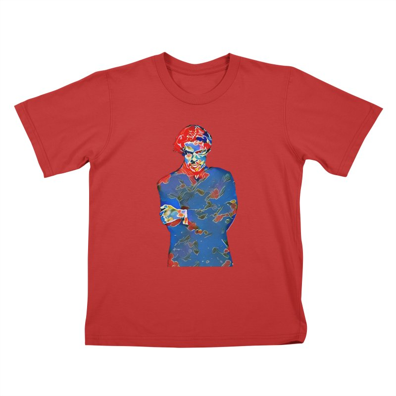 Portrait of a Young Immigrant Kids T-Shirt by zuzugraphics's Artist Shop