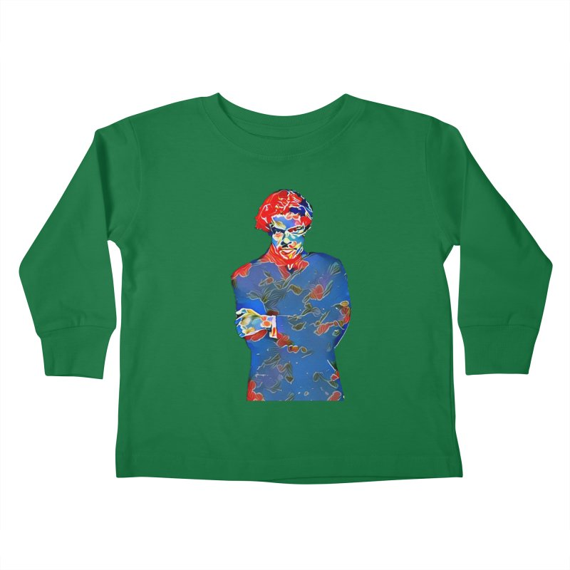 Portrait of a Young Immigrant Kids Toddler Longsleeve T-Shirt by zuzugraphics's Artist Shop