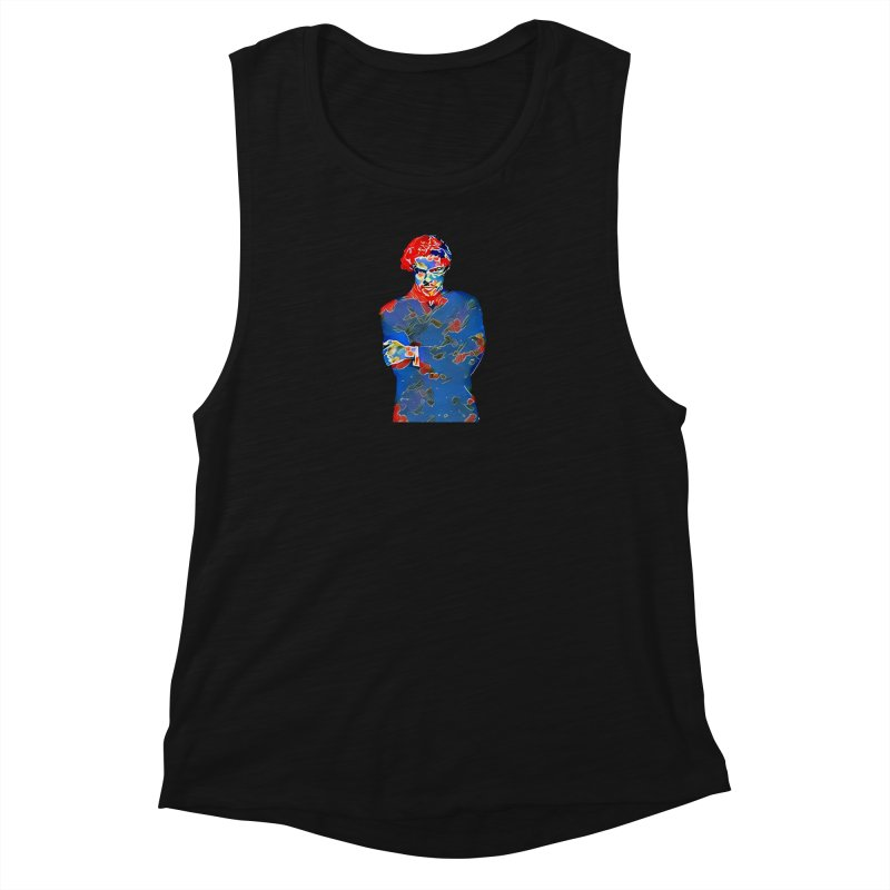 Portrait of a Young Immigrant Women's Tank by zuzugraphics's Artist Shop