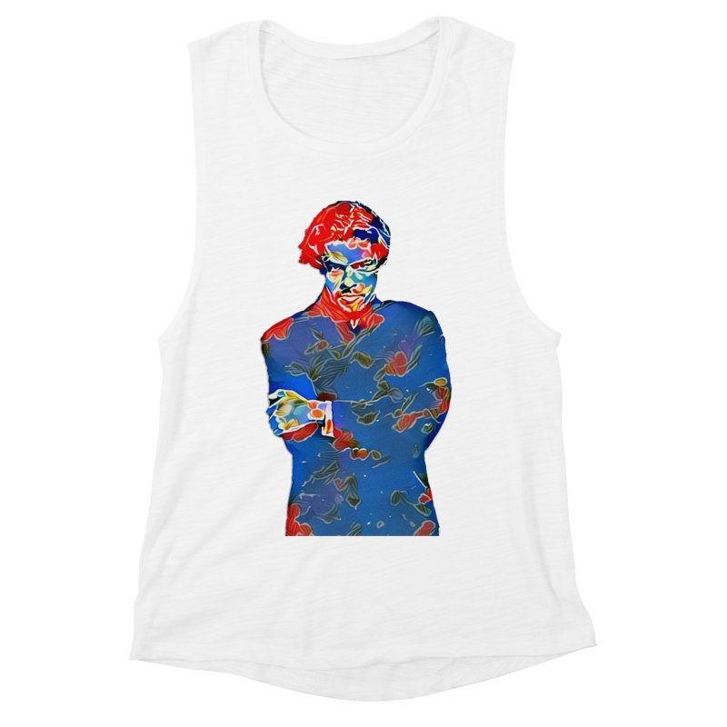 Portrait of a Young Immigrant Women's Muscle Tank by zuzugraphics's Artist Shop