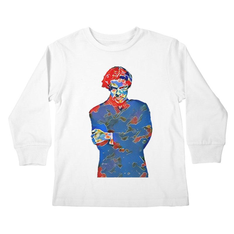 Portrait of a Young Immigrant Kids Longsleeve T-Shirt by zuzugraphics's Artist Shop