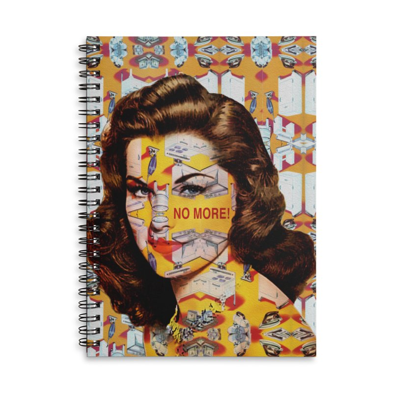 No More Kitchen Appliances for my Birthday! Accessories Lined Spiral Notebook by zuzugraphics's Artist Shop