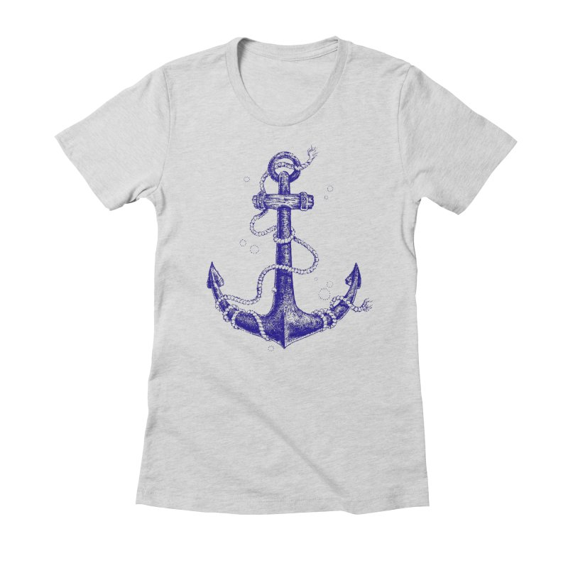 Anchor Women's Fitted T-Shirt by Andrej Zwetzig