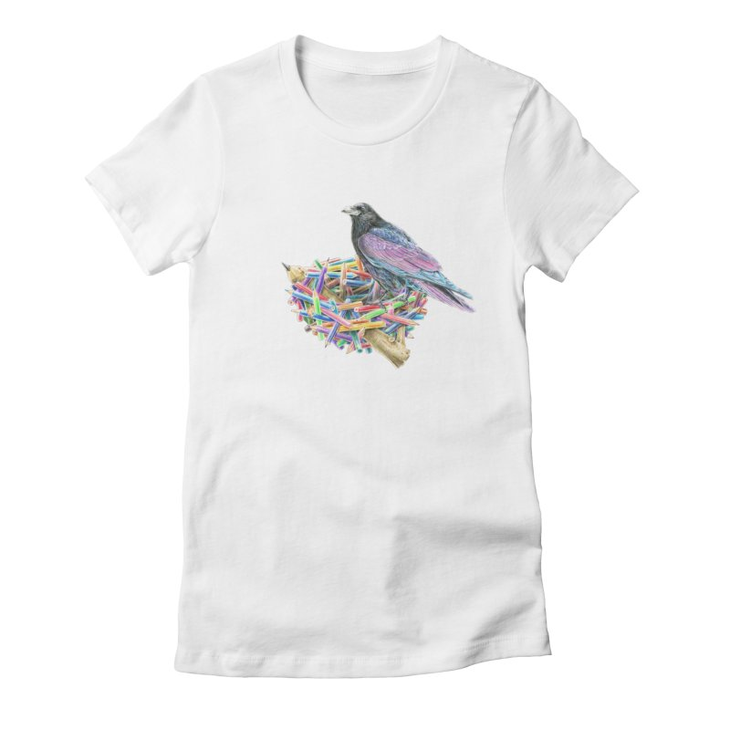 The Artist Women's Fitted T-Shirt by Andrej Zwetzig
