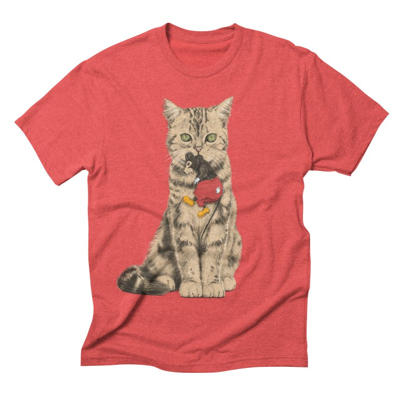 Mickey The Cat Men's Triblend T-shirt by Andrej Zwetzig
