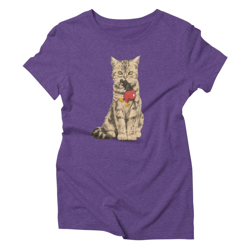 Mickey The Cat Women's Triblend T-Shirt by Andrej Zwetzig