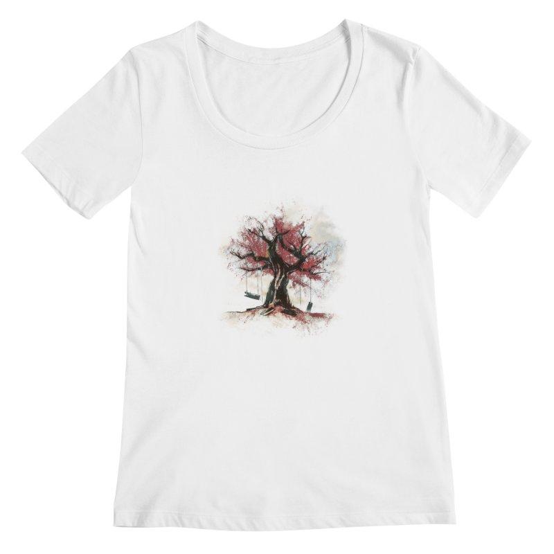 The Old Tree Women's Scoopneck by Andrej Zwetzig