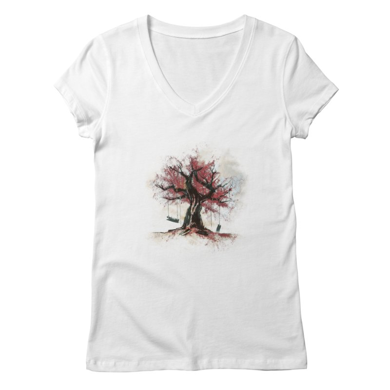 The Old Tree Women's V-Neck by Andrej Zwetzig
