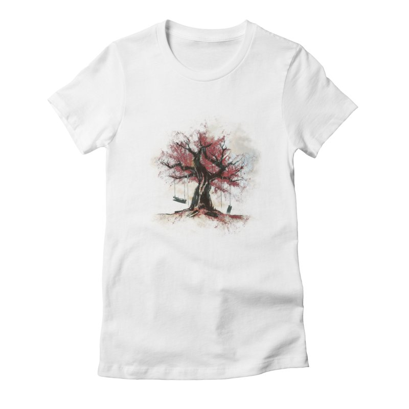 The Old Tree Women's Fitted T-Shirt by Andrej Zwetzig