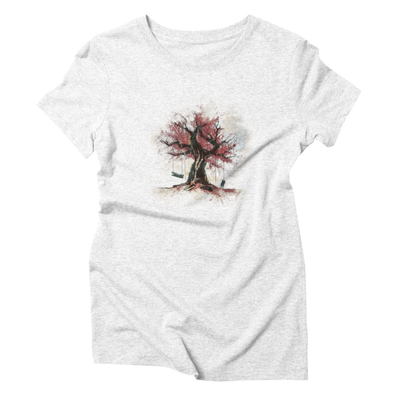 The Old Tree in Women's Triblend T-shirt Heather White by Andrej Zwetzig