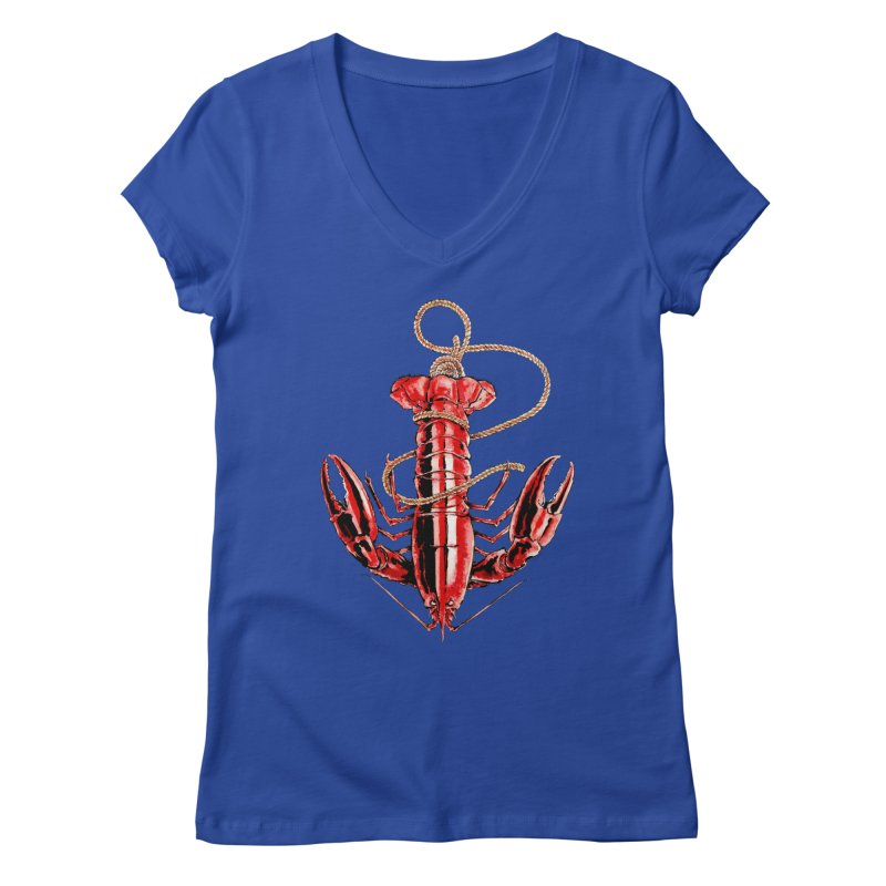 Anchor Women's V-Neck by Andrej Zwetzig