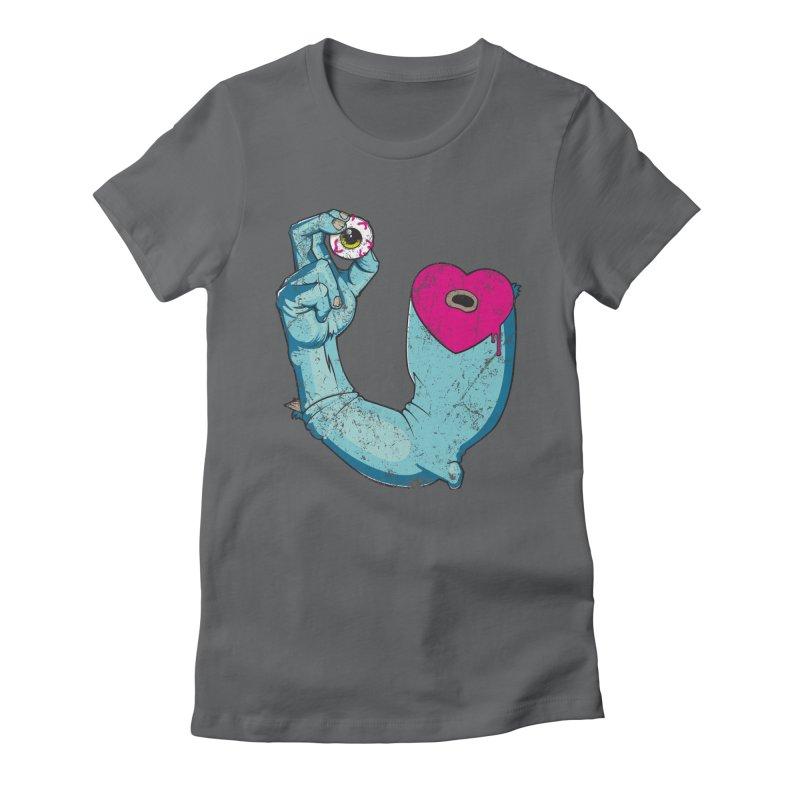 EYE LOVE U Women's Fitted T-Shirt by Andrej Zwetzig