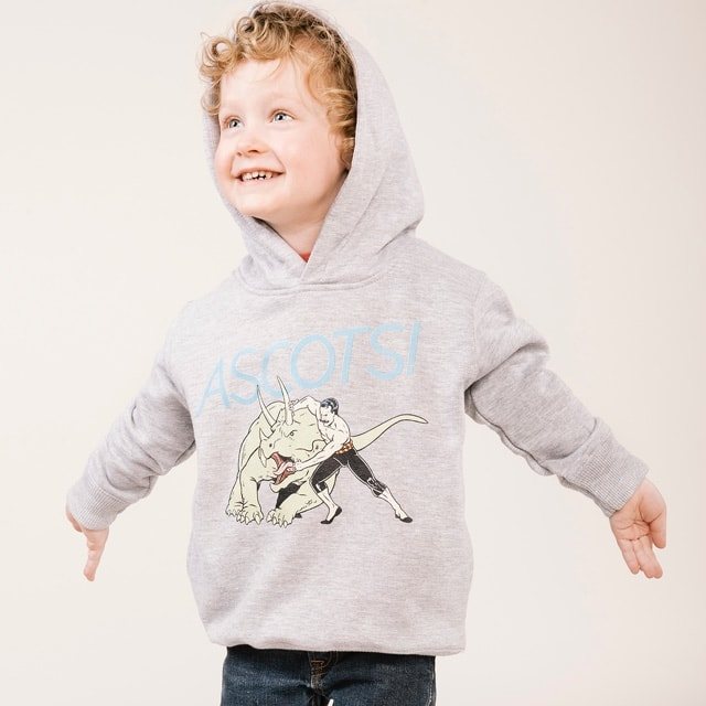 Toddler hooded sweatshirt printing - Ascots Forlorne Funnies