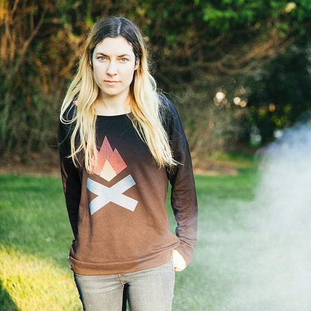 Girly scoop neck sweatshirt - Build Fires Tell Stories