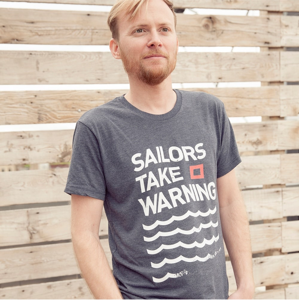 Triblend mens tee - Sailors Take Warning