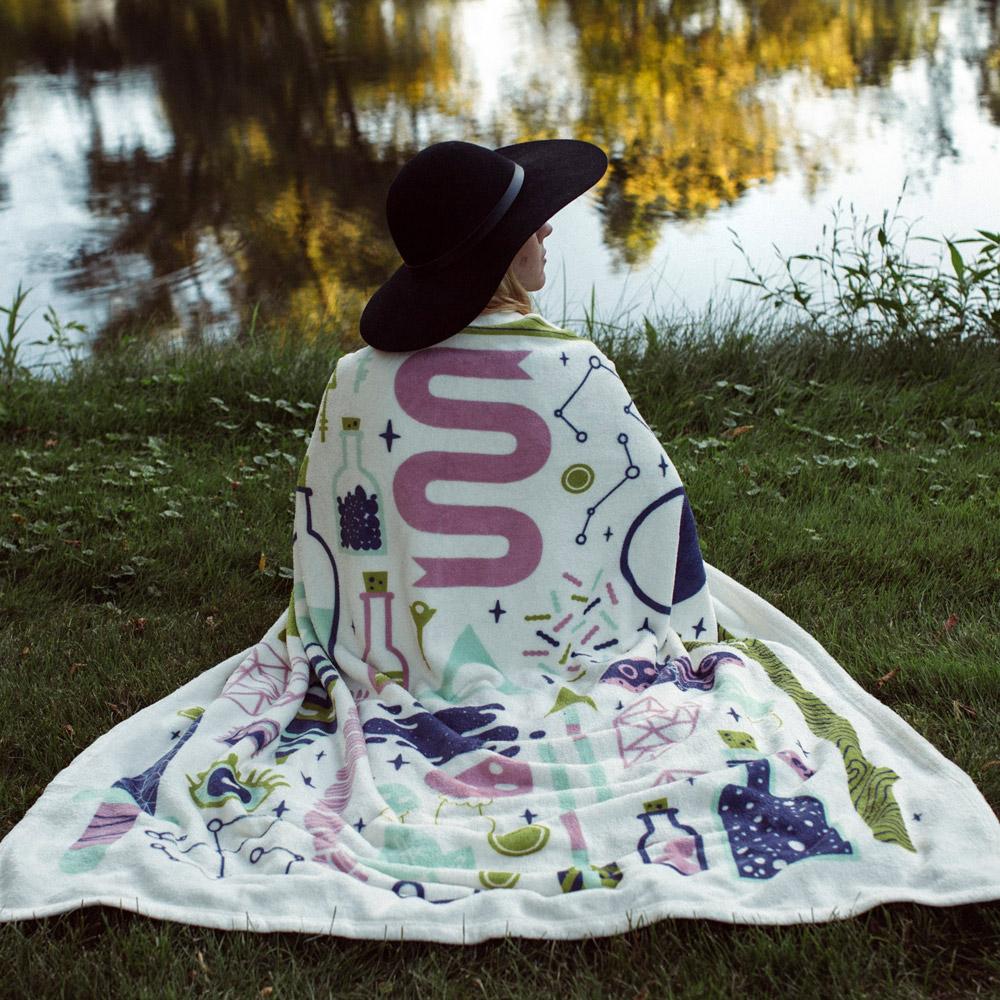 On demand printed fleece blanket