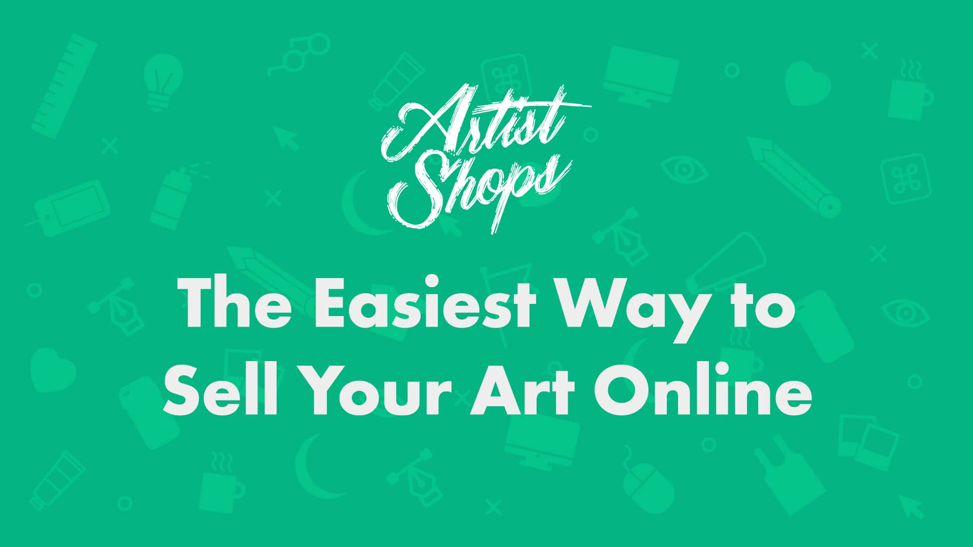 how to sell your art online with artist shops