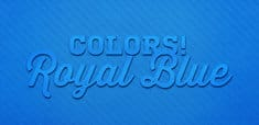 Colors! Royal Blue