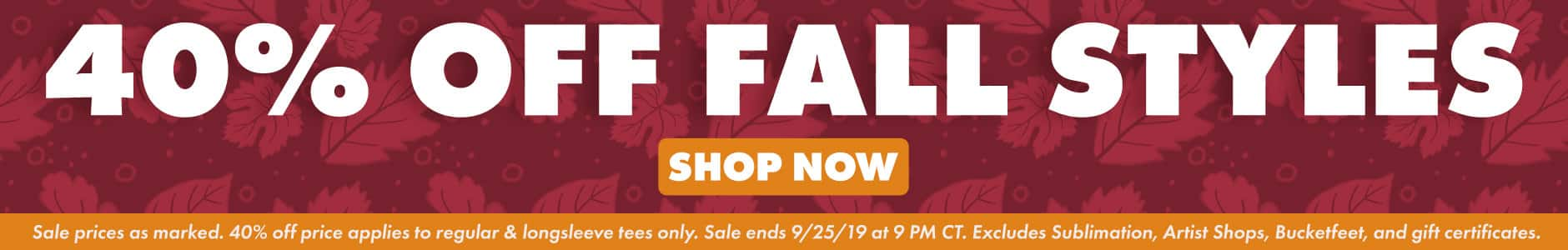 Shop 40% off Fall Styles