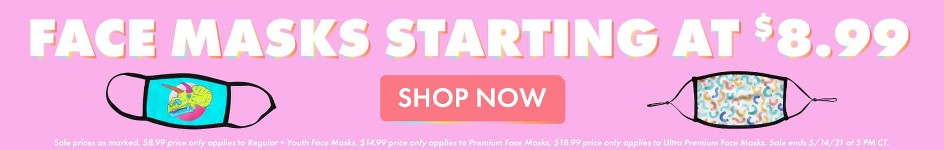 All Face Masks on Sale!