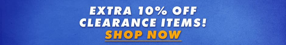 Extra 10% off clearance items! Shop now.