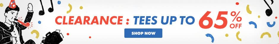 Clearance: Tees up to 65% off. Shop now.