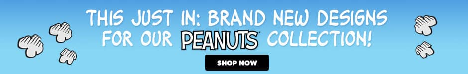 This just in: Brand new designs for our Peanuts collection!