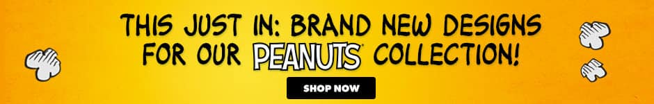 This just in: Brand new designs for our Peanuts collection! Shop now