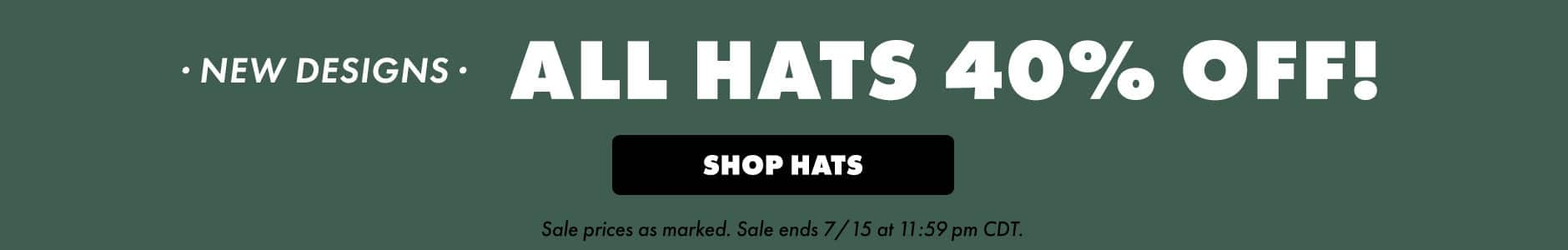 All hats 40% off!